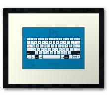 Photoshop Keyboard Shortcuts Blue Opt+Shift Framed Print