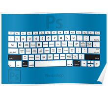 Photoshop Keyboard Shortcuts Blue Opt+Shift Poster