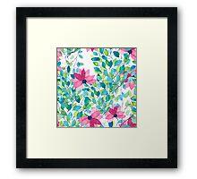 Watercolor floral pattern Framed Print
