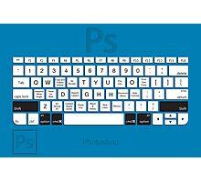 Photoshop Keyboard Shortcuts Blue Opt+Shift+Cmd Photographic Print