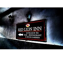 Red Lion Inn Sign Photographic Print