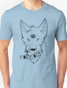 Ribbon Fox in black T-Shirt