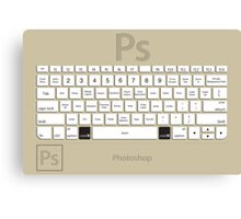Photoshop Keyboard Shortcuts Brwn Cmd Canvas Print