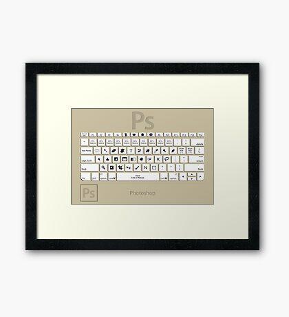 Photoshop Keyboard Shortcuts Brwn  Framed Print