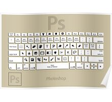 Photoshop Keyboard Shortcuts Brwn  Poster