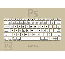 Photoshop Keyboard Shortcuts Brwn  Photographic Print