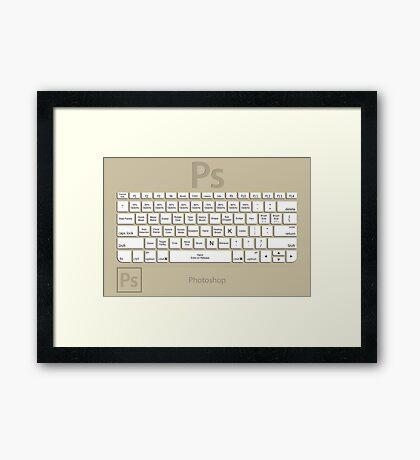 Photoshop Keyboard Shortcuts Brwn Tool Names Framed Print