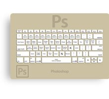 Photoshop Keyboard Shortcuts Brwn Tool Names Canvas Print