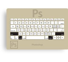 Photoshop Keyboard Shortcuts Brwn Opt+Shift Canvas Print