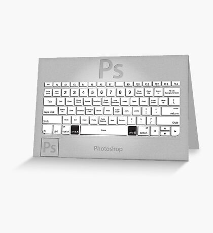 Photoshop Keyboard Shortcuts Metal Greeting Card