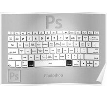 Photoshop Keyboard Shortcuts Metal Poster