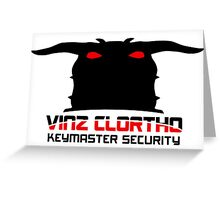 Clortho Security Greeting Card