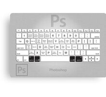 Photoshop Keyboard Shortcuts Metal Opt+Cmd Canvas Print
