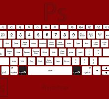 Photoshop Keyboard Shortcuts Red Cmd by Skwisgaar