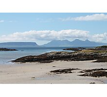 Eigg and Rhum from Arisaig Photographic Print
