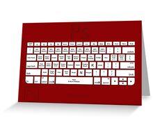 Photoshop Keyboard Shortcuts Red Tool Names Greeting Card