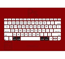 Photoshop Keyboard Shortcuts Red Opt+Cmd Photographic Print
