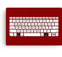 Photoshop Keyboard Shortcuts Red Opt Canvas Print