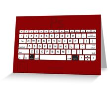 Photoshop Keyboard Shortcuts Red Opt Greeting Card
