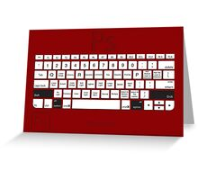 Photoshop Keyboard Shortcuts Red Opt+Shift Greeting Card