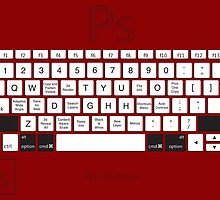 Photoshop Keyboard Shortcuts Red Opt+Shift+Cmd by Skwisgaar