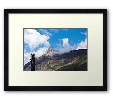 Touch the Clouds Framed Print