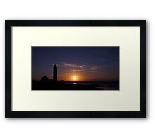 Corsewall Lighthouse at Sunset Framed Print