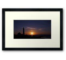 Corsewall Lighthouse at Sunset Framed Print