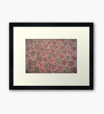 Paver Stones Framed Print