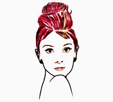 audrey hepburn drawing Womens Fitted T-Shirt