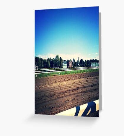 Saratoga Springs Racing Greeting Card
