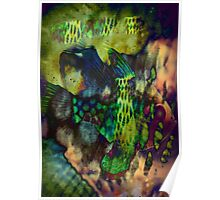 4550 Psychedelic Fish Poster