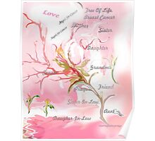 TREE OF LIFE..dedicated to breast and other cancer research Poster