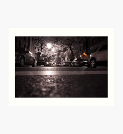 NYC 75th Street Infrared at night Art Print