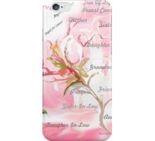 TREE OF LIFE..dedicated to breast and other cancer research iPhone Case/Skin