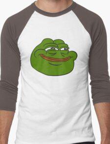 Happy Pepe the Frog Men's Baseball ¾ T-Shirt