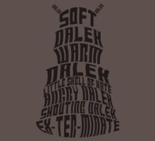 Soft Dalek, Warm Dalek One Piece - Short Sleeve