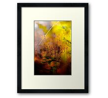 Early Autumn Web Abstract .. Framed Print