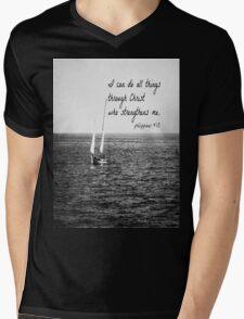 Philippians 4:13 All Things Mens V-Neck T-Shirt