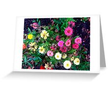 carpet of flowers Greeting Card