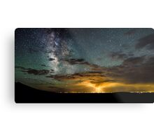 Milky Way Over the Storm - Great Sand Dunes National Park, Colorado Metal Print