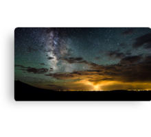 Milky Way Over the Storm - Great Sand Dunes National Park, Colorado Canvas Print