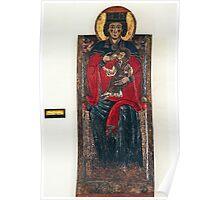 Pittoro Abruzzei Madona in Trono w Bambino 1270 1280 in Castello L'Aquila 19840408 0004  Poster