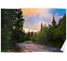 San Juan Mountain Sunset Poster