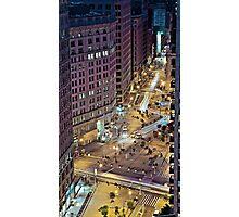 Nigthly version of the Flatiron building in Uptown Manhattan New York Photographic Print