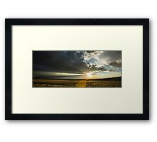 Single Ray - Great Sand Dunes National Park, Colorado Framed Print