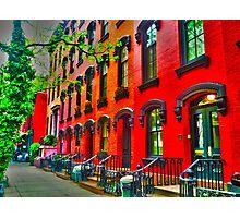 NYC - Building Series - Brownstones Photographic Print