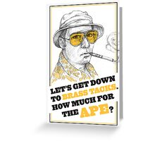 FEAR AND LOATHING IN LAS VEGAS- HUNTER S. THOMPSON Greeting Card