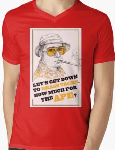 FEAR AND LOATHING IN LAS VEGAS- HUNTER S. THOMPSON Mens V-Neck T-Shirt