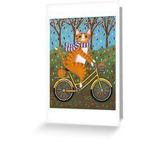 Bringing Home the Pumpkins Greeting Card
